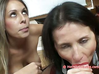 slutty daughter wins blowjob contest over hot