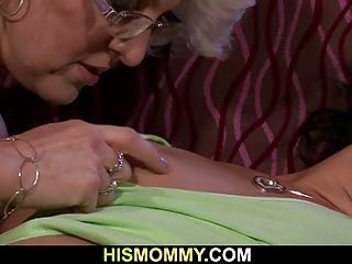 lusty mom seduces her sons gf