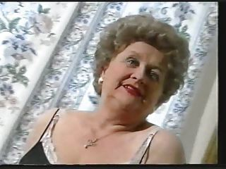 chunky old granny teases in stockings