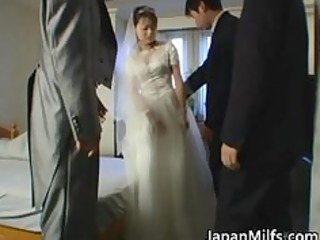 real asian bride getting hard core group making