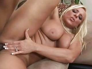 aged blond having interracial sex