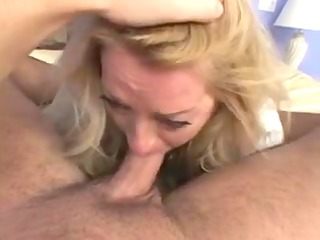 y.o. golden-haired aged lady sexy sex (pov)