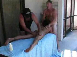 aged swingers party by the pool with hot oral-job
