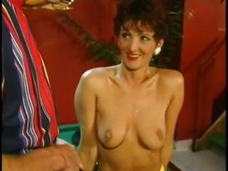 sexy redhead granny cougar banging on pool table