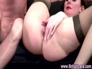 aged british lady in stockings creampied