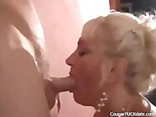 excited cougar gets what she is needs