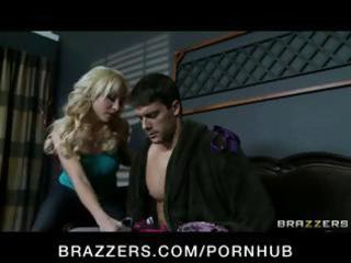 hot blond milf seduces the neighbour for an wazoo