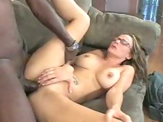 horny momma is fucking a large darksome wang on