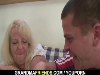 partying chaps lure granny into some