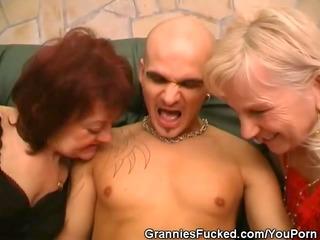 lascivious older sweethearts share a knob