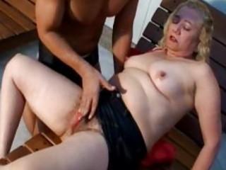 lusty blond older gives fantastic oral stimulation
