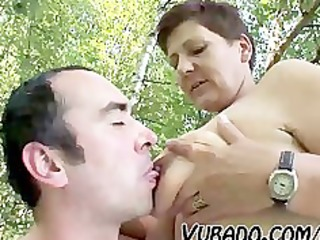 aged pair outdoor sex