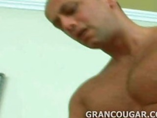 grancougar engulfs young meat with her old