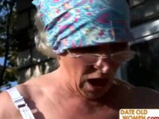 unattractive bushy granny copulates