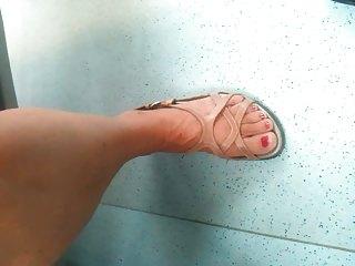 hidden cam aged feet