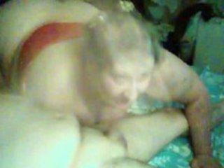 granny gives great orall-service handjob combo