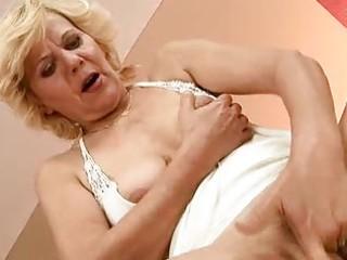 horny granny enjoys hard sex