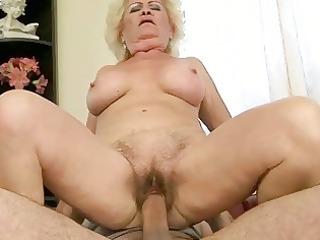 breasty grandma enjoying naughty sex