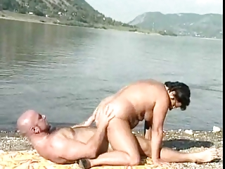 older fucking on a beach