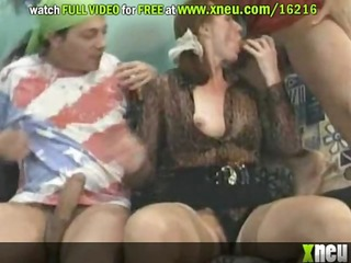 kinky older harlots acquire anal screwed and