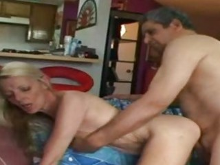 wild granny riding a hard schlong after playing