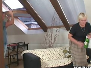 old bag gets group-fucked by son in law