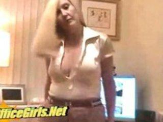 Slut english milf secretary in glossy tan