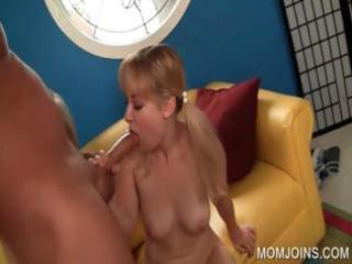 ramrod sucking with mommy and daughter