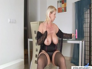 plastic enjoyment with golden-haired breasty