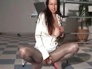 make water satin milf in hawt shiny suit