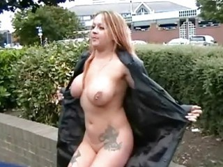 busty milf ginas public nudity and english flasher