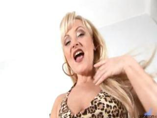mature mature golden-haired anal bead play
