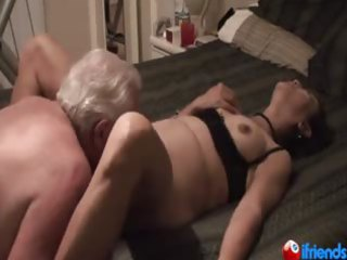 aged pair whilst she screams with pleasure