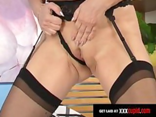 granny fingers her anal opening