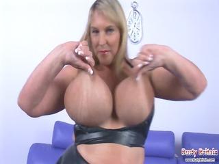 Big Tits Carol Brown Latex Fun