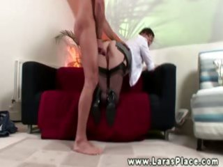 mature babe sucking then fucking for this lucky