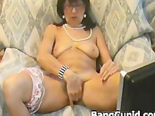 slutty mature playgirl stripping and teasing