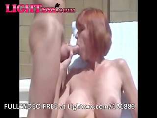 hotwife with big fake boobs jizz flow compilation