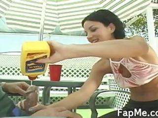 cute cutie giving an fantastic handjob