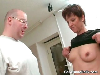shaved chap rubbing vagina with dildo