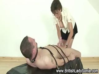 older femdom bondage cook jerking