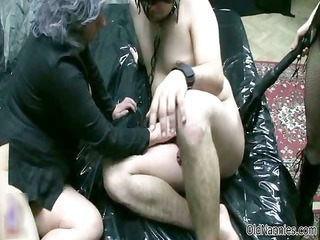 old woman goes avid jerking and engulfing part7