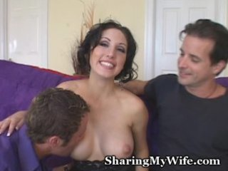 sissy hubby watches hawt wife