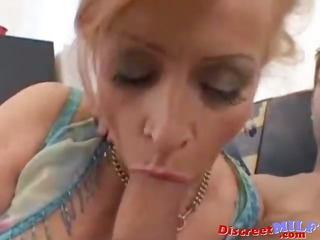 redhead cougar acquire screwed by younger stud