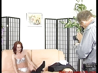 redhead mother i from street into porn studio