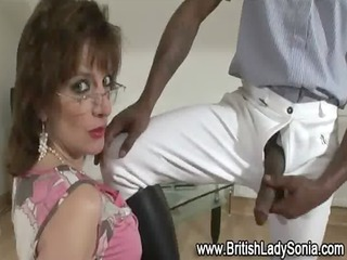 mature brit lady sonia receives a mouthful